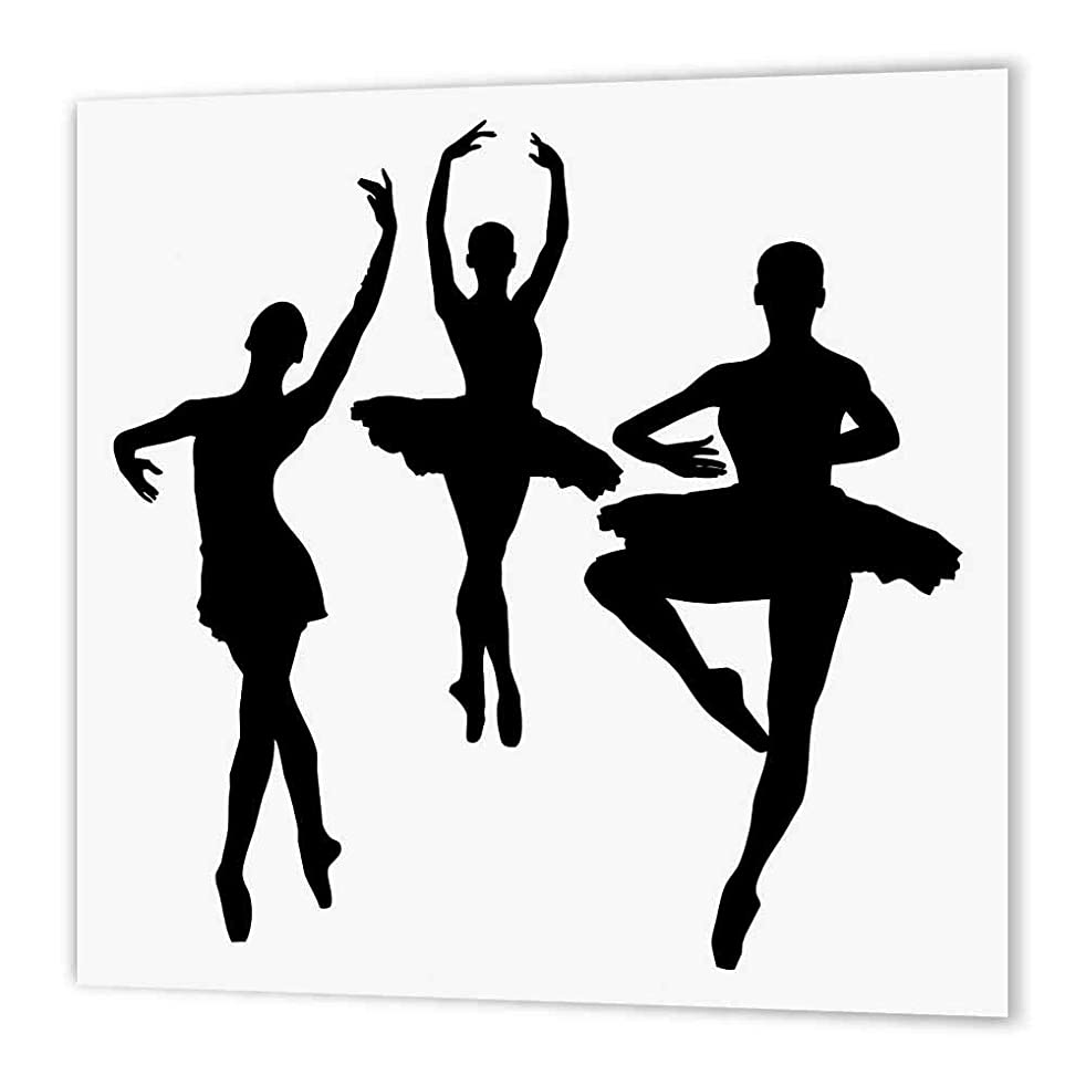 3dRose ht_157854_2 Pink Ballet Dancer-Iron on Heat Transfer Paper for White Material, 6 by 6-Inch