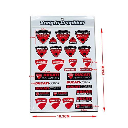 KUNGFU GRAPHICS カンフー グラフィックス ドゥカティ レーシングスポンサーロゴ マイクロデカールシート(ホワイト)