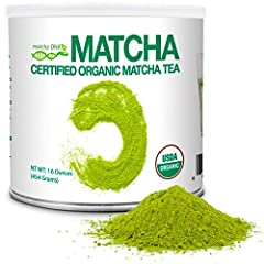 DELICIOUS AND NUTRITIOUS TEA 🍵 16 oz Tin Can of MatchaDNA Organic Green Tea Powder is naturally packed with antioxidants, vitamins, minerals, amino acids and EGCG's. 100% USDA CERTIFIED ORGANIC 🍵 All MatchaDNA teas are USDA Certified Organic. Our far...