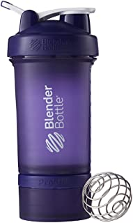 BlenderBottle ProStak System with 22-Ounce Bottle and Twist n' Lock Storage, Purple/Purple by Blender Bottle