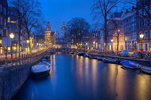 Decorsy Legpuzzel 1000 Stukjes Amsterdamse Gracht In De Nacht Moderne Woondecoratie Collectie