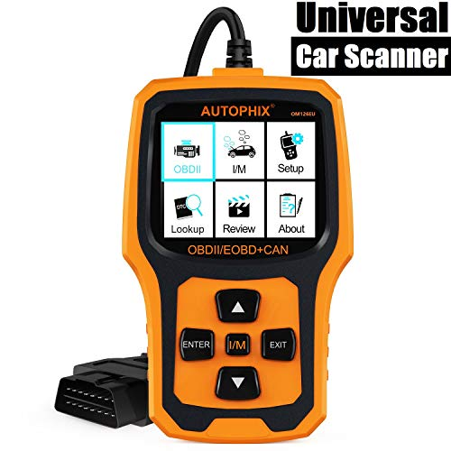 Autophix OM126 Valise OBD OBD2 Scanner Français Outils de Diagnostic Auto Multimarque Voiture Code Lecteur Car Code Reader Upgrade on Windows 7/8/10 Noir