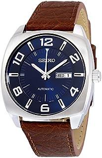 Seiko(セイコー) Recraft Automatic Blue Dial Brown Leather Men's Watch 自動ブルー ダイアル ブラウン レザー メンズ腕時計を recraft します。 [並行輸入品]