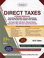 Padhuka's Direct Taxes A Ready Referencer Including MCQs for CA Final - 23/edition, 2021