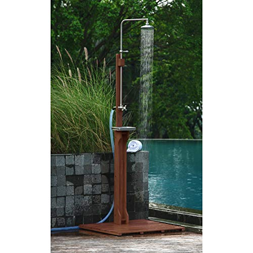 Buy Bargain Cambridge-Casual Solid Wood Estate, Outdoor Shower, Natural Brown