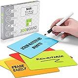 2DOBOARD Beschreibbare magnete 15 x 10 cm für Kanban Board oder Scrum Tafel - 25 Stück - Scrum Karten für Whiteboard - Magnete zum beschriften - Magnetic notes - Kanban karten (Mix 5 Farben)