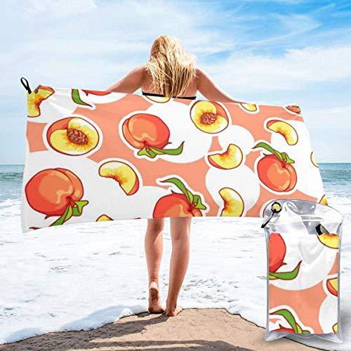 Toallas de Playa de Antiarena de Microfibra para Hombre Mujer, 130x80cm, Toallas Baño Calidad Gigante Secado Rapido para Piscina, Manta Playa, Toalla Yoga Deporte Gimnasio,Frutas