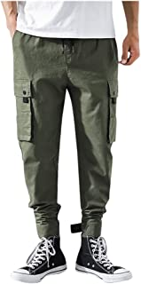 waitFOR Tracksuit Bottoms for Men Camouflage Print Elastic Waist Drawstring Trousers with Pockets Slim Fit Long Sports Pan...