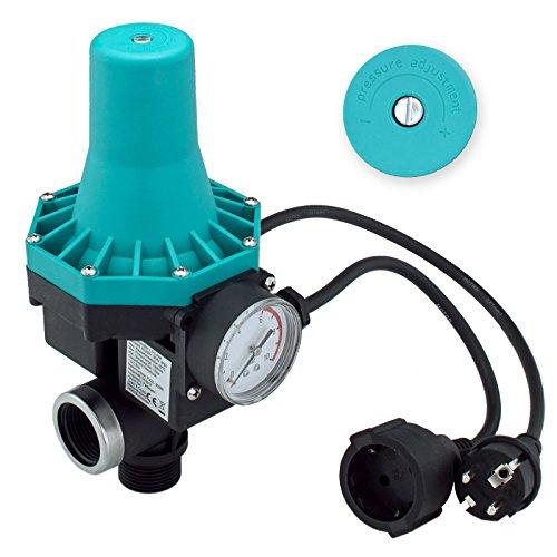 TRUTZHOLM® Pumpenschalter 10 bar einstellbar von 1,5-2,2 bar Druckschalter Pumpensteuerung für Gartenpumpen Hauswasserwerk