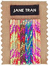Jane Tran Small Neon Leaves Print Bobby Pin Set