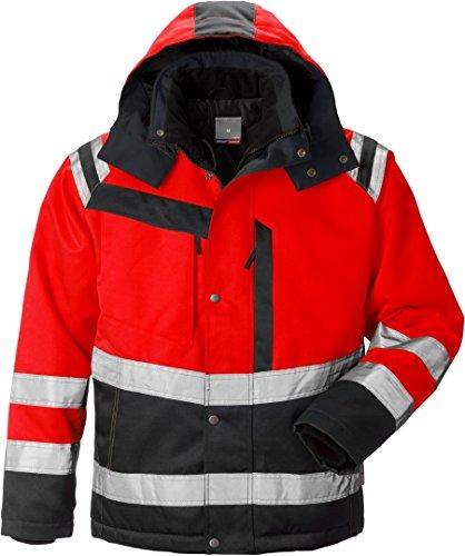 Fristads Kansas Workwear 119630 High Viz Winterjacke Hi-Vis Rot/Schwarz 3XL