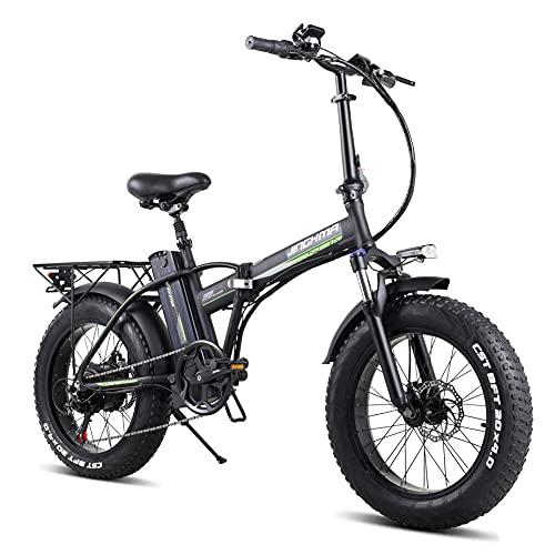 20 Zoll Faltbares Elektrofahrrad Fettreifen E-Bike 48V 800W Motor 15Ah Lithium-Akku, Max Speed 45KM/h, 7-Gang Schalthebel, Reichweite 80 km, EU Warehouse