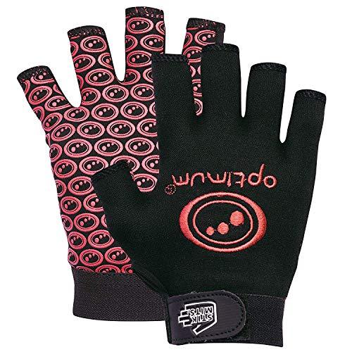 OPTIMUM Stik Mits – Fingerlose Rugby-Handschuhe schwarz/rot schwarz/rot SB