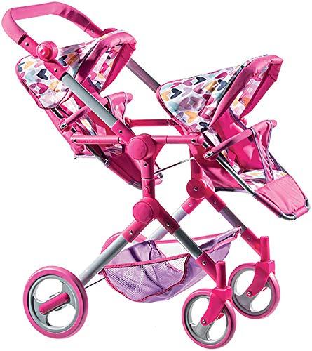 Lissi Modern Twin Baby Doll Stroller