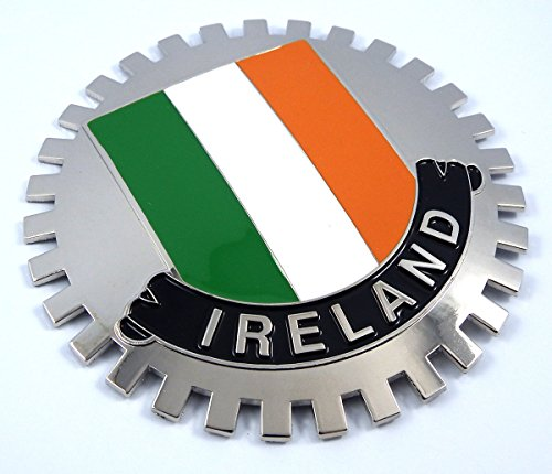 Ireland Grille Badge for car Truck Grill Mount Irish Flag Metal Chrome Plated