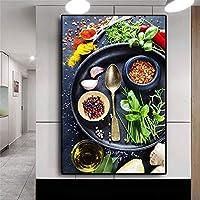 野生動物オランウータン頭油絵キャンバスポスタープリントリビングルーム壁画写真