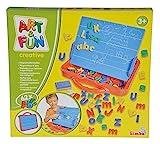 Simba 106304026 - Art & Fun ABC Magnettafel im Koffer 62-teilig -