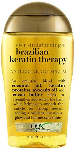 OGX Anti-Breakage Serum, Ever Straight Brazilian Keratin Therapy,...