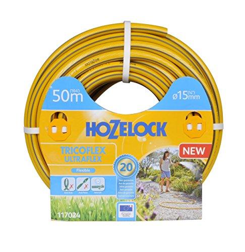 Hozelock 117024 Tuyau 50m diam 15mm Tricoflex Ultraflex