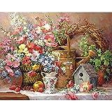 5D DIY diamante pintura jardín maceta nido de pájaro planta maceta conjunto de bordado de diamantes mosaico arte imagen A1 30x40cm
