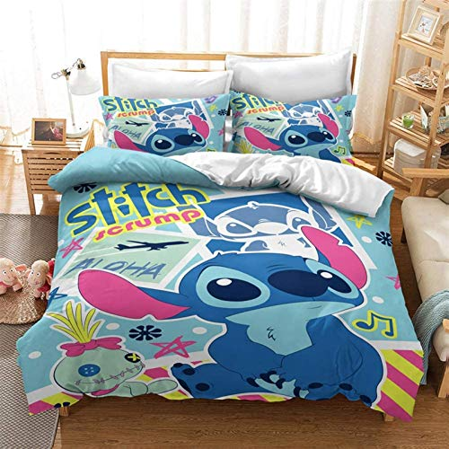 BBLTO 3D Duvet Cover, 3D Printing Anime Themed Duvet Cover Sets, Comfortable Soft Bedding Set Made Pillowcases Teens Duvet Cover Set Quilt Cover+Pillowcase*2, AU Queen ,As a gift