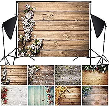 GUAGLL Background Cloth Studio Shooting Background Cloth Wood Grain Pattern Modern Wall Photography Backdrops 49.2x31.5 Inch