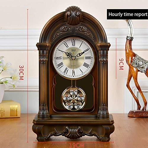 LCZ Escritorio Repisa De La Chimenea Relojes De Mesa Manto Relojes Antiguos Decorativo del Hogar Decoración De Habitaciones Mute Regalos Creativos, con Pilas