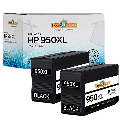 HouseOfToners Remanufactured Ink Cartridge Replacement for HP 950XL 950 XL to use with OfficeJet Pro 8610 8600 8615 8620 8625 8630 8640 8660 8100 276dw 251dw(2 Black, 2 Pack)
