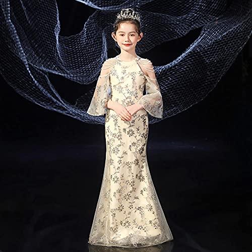 SUNXC Niña Vestido Elegante de Dama de Honor, Vestido de Princesa de Verano-One Kind_110 cm, Niña Cosply Cumpleaños Vestido de Princesa