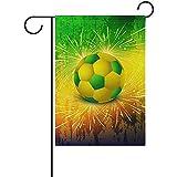 Hao-shop Feuer kühlen Fußball-Garten-Flaggen-Banner-Dekoration für Innenhof-Hof-Außendekor