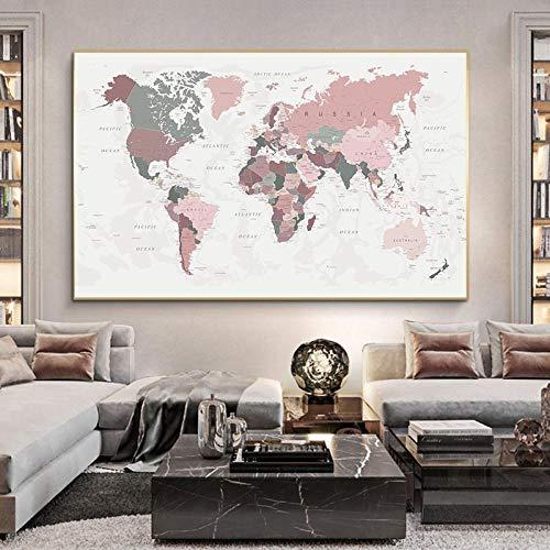 cuadro mapa mundo de la marca Awoeorsty