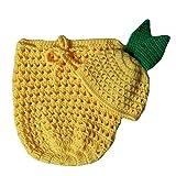 Baby Photography Props Pineapple Hat Sleeping Bag Newborn Boy Girl Photo Shoot Outfits Infant Crochet Unisex Set Yellow