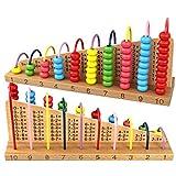 Silverdewi Juguetes de Madera de ábaco Multicolores Soroban Bloques de cálculo de conteo para niños Montessori Aprendizaje Juguetes educativos de matemáticas - Multicolor