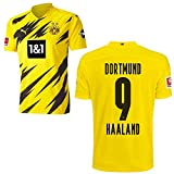 PUMA Borussia Dortmund BVB Heimtrikot 2020 2021 Home Trikot Sponsor BL Logo Kinder Erling Haaland 9 Gr 164