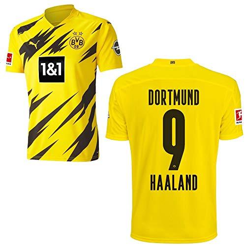 PUMA Borussia Dortmund BVB Heimtrikot 2020 2021 Home Trikot Sponsor BL Logo Kinder Erling Haaland 9 Gr 140