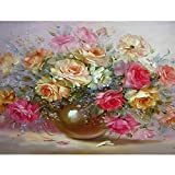 Diy Digital Oil Painting Flower Digital Nature Picture Sala de estar Decoración del hogar sobre lienzo 60x75cm