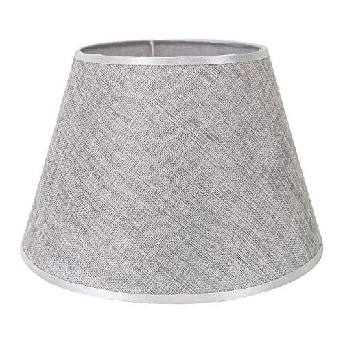 DULEE 12'' E27/E14 Screw Tela Pantalla de Lámpara de Pie Mesa y Lámpara de Noche,(Top) 18cm x (Altura) 20cm x (Fondo) 30cm,Gris