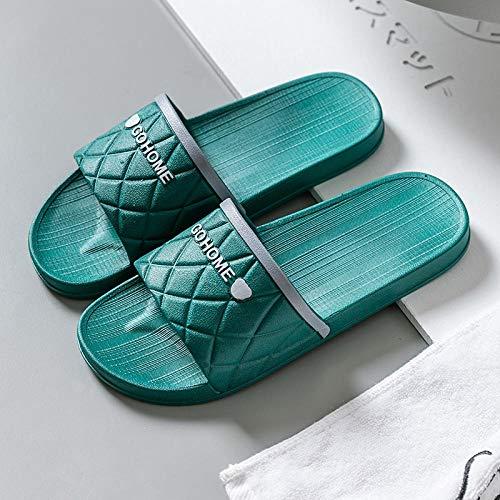 TDYSDYN Antideslizantes Playa Piscina Ducha Sandalias,Pareja de Sandalias y Zapatillas de Suela Blanda para Mujer, Zapatillas de baño Antideslizantes para Hombre-Verde_36/37