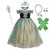 Sofía Rapunzel - Vestido de princesa para niñas,disfraz de cosplay, fiesta para Navidad cumpleaños largos vestidos hinchados carnaval,noche baile de graduación sesión de fotos para niños 2-3