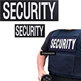 TOOLSSIDE 2 Pack Security Patch with Loop Hook System - Security Patches for Uniforms with Embroidered Letters - One Small and One Large Security Patch - Security Patches Velcro for Vest or Jacket