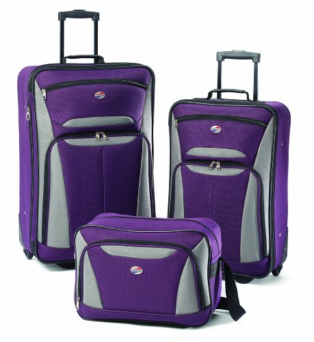 Two cases and boarding bag, which still makes this a 3 piece luggage set at a great price.