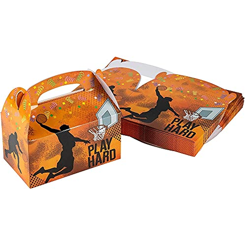Basketball Party Supplies, Paper Treat Boxes (24 Pack)
