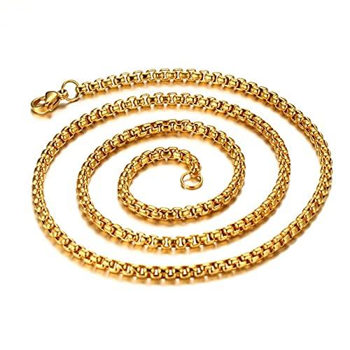 Collar unisex de acero inoxidable para mujer, cadena de titanio Belcher de plata, cadena para hombre, Titanio.,