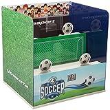 Ultrasport Puesto de tiro airsoft electrónico: puesto de tiro con 3 modos electrónicos de tiro, diana para máx. 0,5 joules, para airsoft, también apto para niños, edición fútbol