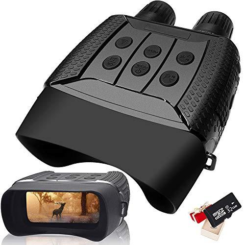 Braveking1 Prismáticos Visión Nocturna Digital HD Infrarrojo Caza Binoculares 4X3 Zoom Alcance...
