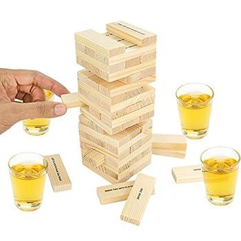 Fairly Odd Novelties Dunken Blocks Shot Glass Drinking Game A Tower Of Fun!.