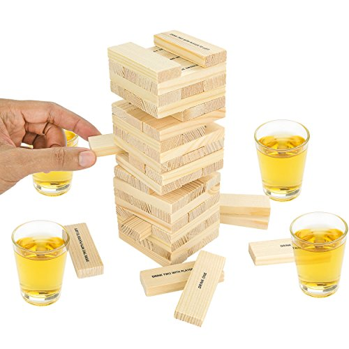Fairly Odd Novelties Dunken Blocks Shot Glass Drinking Game, A Tower Of Fun!.