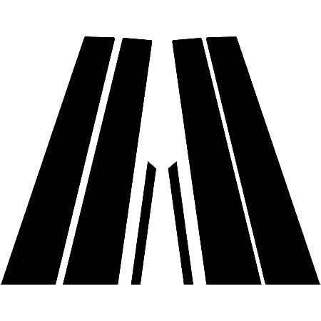 Black Matte Rvinyl Rtrim Pillar Post Decal Trim for Cadillac CTS 2003-2007