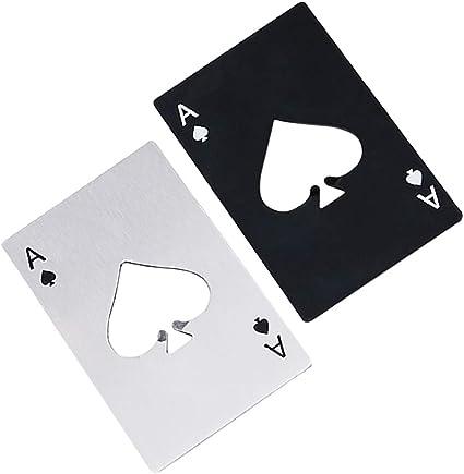 Details about  /Metal Ace Card Black Bottle Opener