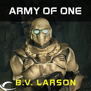 Army of One: FREE Star Force Novella                   By:                                                                                                                                 B.V. Larson                               Narrated by:                                                                                                                                 Mark Boyett                      Length: 2 hrs and 39 mins     2,129 ratings     Overall 3.9